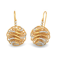 The Round Lattice Earrings