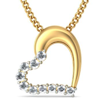 heart shaped diamond pendants