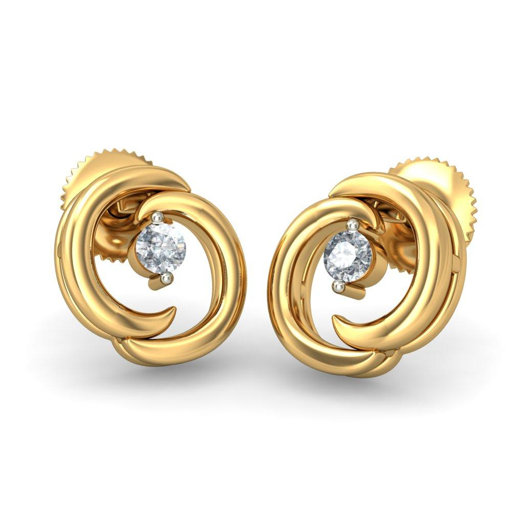 Gold Earrings For Women Indian : Beautiful Yellow Gold Earrings ...