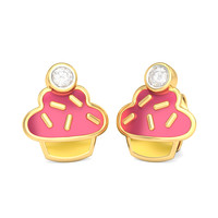 The Pink Cupcake Earrings For Kids