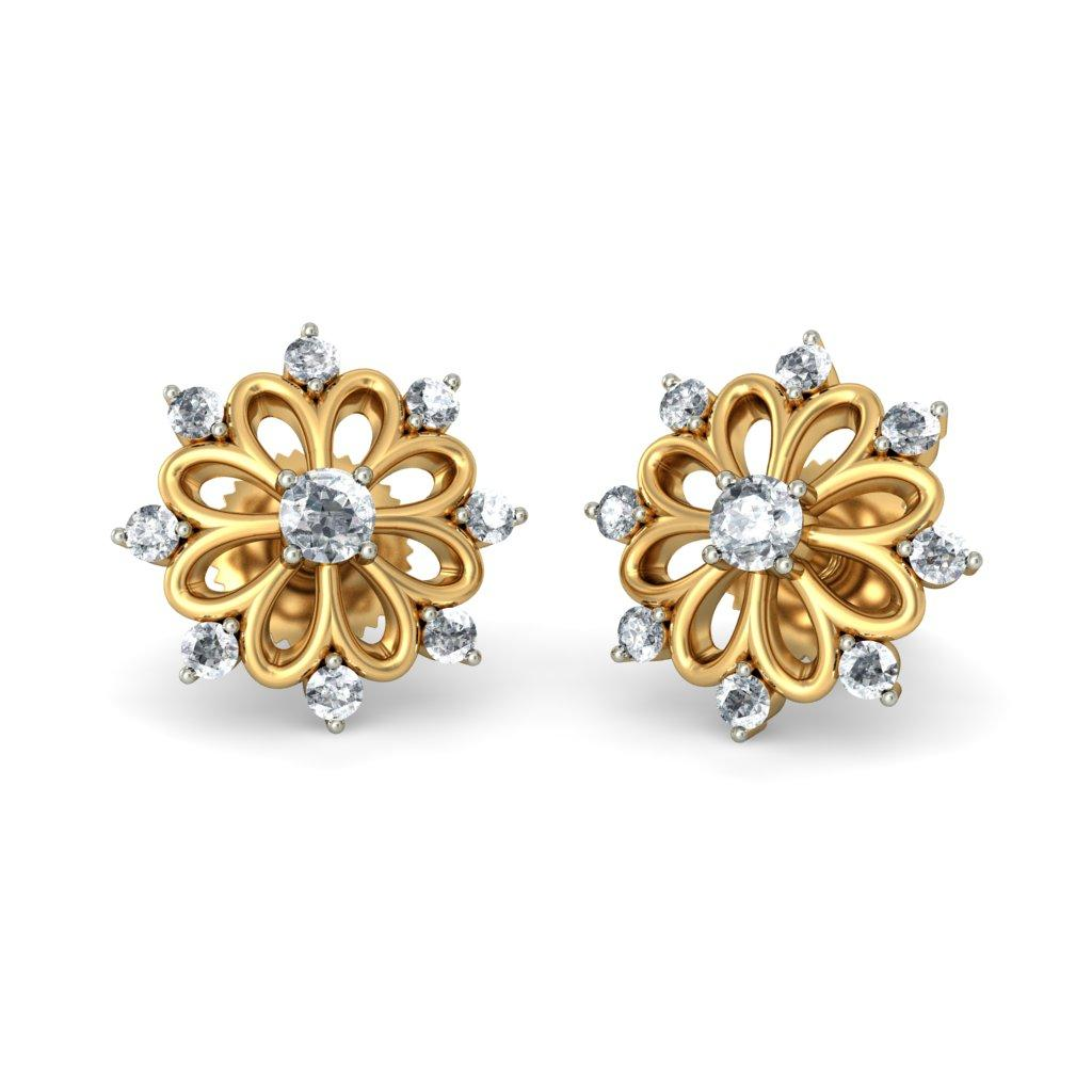 Brilliant Indian Gold Jewellery Designs  Earrings Online Shopping India