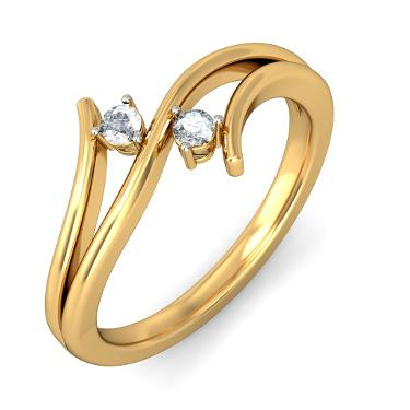 Diamond hoop earring in 18kt yellow gold