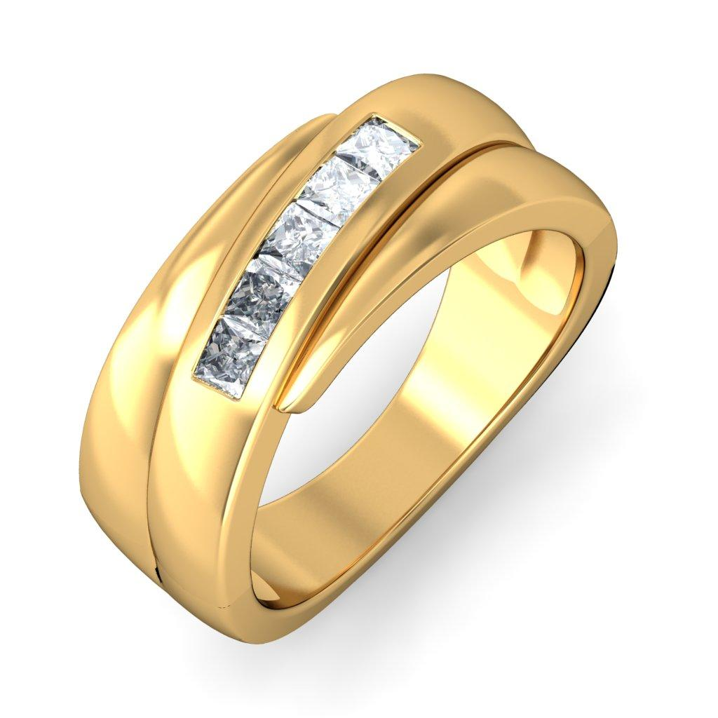 Indian Engagement Gold Ring Designs Designer Engagement Rings